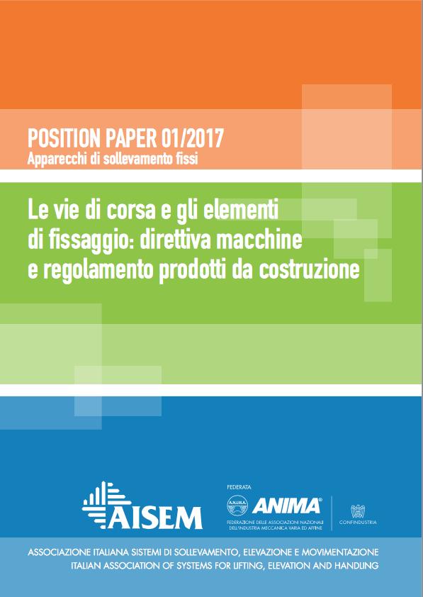 UNA NUOVA PUBBLICAZIONE DI AISEM - Sollevare - AISEM apparecchiature di sollevamento fisse norme - Associazioni News 1