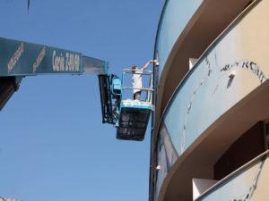 TECNOALT PER L'HOTEL CAMPANELLE A ROMA - Sollevare -  - case history News Piattaforme aeree