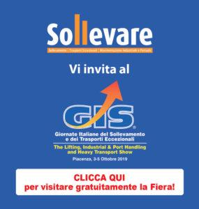 SOLLEVARE ti invita al GIS 2019 - Sollevare -  - News